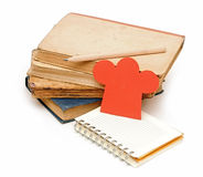 Blank notebook for your fine recipes Royalty Free Stock Photo