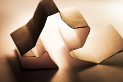 Paper shapes. With white background Royalty Free Stock Image