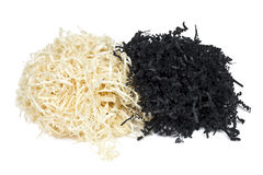 Paper shavings and yellow straw Royalty Free Stock Photography