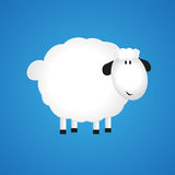 Paper sheep. On  blue background. Vector illustrations Stock Illustration