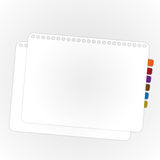 Paper sheet. The paper sheet in stack layer Royalty Free Stock Photo