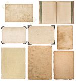 Paper sheet book cardboard photo frame corner. Paper sheet, book, cardboard, photo frame with corner isolated on white background royalty free stock image