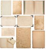 Paper sheet book cardboard photo frame corner scrapbook Stock Images