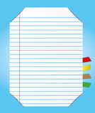 Paper sheet with bookmark Royalty Free Stock Images