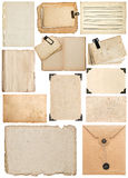 Paper sheet, bookpage, cardboard, envelope, photo frame, corner Royalty Free Stock Images