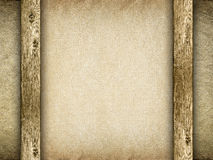 Paper sheet on canvas background Royalty Free Stock Photography