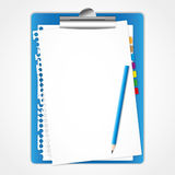 Paper sheet on clip board. Royalty Free Stock Image