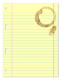 Paper Sheet With Coffee Stain Royalty Free Stock Photo