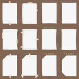 Paper sheet collection with solid shadows (change the color if you need it) Stock Photo