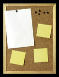 Paper Sheet on Corkboard Royalty Free Stock Photography
