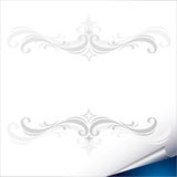 Paper sheet with corner Royalty Free Stock Images