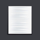Paper sheet on the dark background. Stock Image