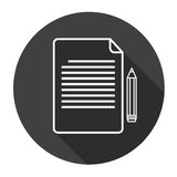 Paper Sheet Document Contract Sign Pen Web Icon Royalty Free Stock Photo