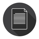 Paper Sheet Document Contract Web Icon Royalty Free Stock Photos