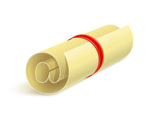 Paper sheet with e-mail sign Royalty Free Stock Photo
