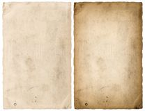 Paper sheet edges isolated white background Royalty Free Stock Photo