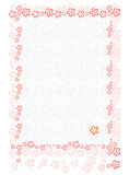 Paper sheet with floral background Royalty Free Stock Images