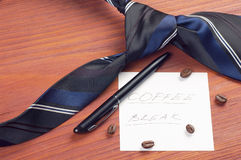 Paper sheet with handwritten words Coffee Break Royalty Free Stock Photography