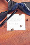 Paper sheet with handwritten words Coffee Break Stock Images
