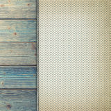 Paper sheet on old wood plank wall background Stock Image