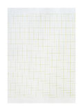 Paper sheet over a white background. Squared blank sheet of copybook Stock Photo