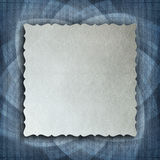 Paper sheet on patterned background Stock Image