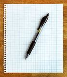 Paper sheet with pen Stock Photos
