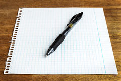 Paper sheet with pen Royalty Free Stock Images