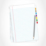 Paper sheet and pencil. Paper sheet and pencil by illustrations Royalty Free Stock Images