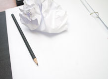 Paper sheet with a pencil Royalty Free Stock Image