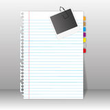 Paper sheet and photo. Paper sheet and photo on wall backgrounds Royalty Free Stock Images