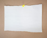 Paper sheet and pin Stock Photos