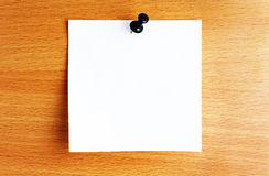 Paper sheet with pin Royalty Free Stock Image
