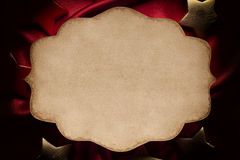 Paper sheet on red background Royalty Free Stock Photo