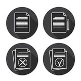 Paper Sheet Set Document Contract Web Icon Collection Royalty Free Stock Photography