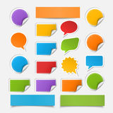 Paper sheet,speech bubles,stickers set Stock Image