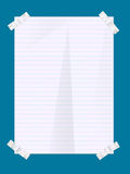Paper sheet with stickers Royalty Free Stock Image