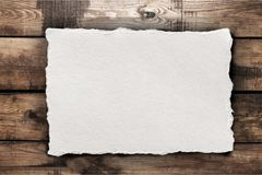Paper sheet on the table. Advert advertise aged antiquary antique blank Royalty Free Stock Photos