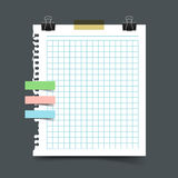Paper sheet torn from a notebook Royalty Free Stock Images