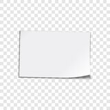 Paper sheet on transparent background stock illustration