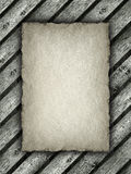 Paper sheet on wood background Stock Photo