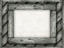 Paper sheet on wooden frame Stock Images