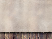 Paper sheet on wooden planks Stock Image