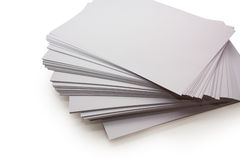 Paper Sheets. Isolated on a white background Royalty Free Stock Photography