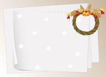 Paper sheets and bells Royalty Free Stock Photography