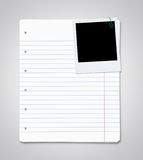 Paper sheets with blank photo Stock Photo