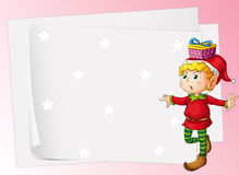 Paper sheets and boy Royalty Free Stock Images
