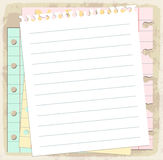 Paper sheets, lined paper and note paper Stock Photo