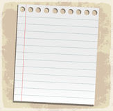 Paper sheets, lined paper and note paper Royalty Free Stock Photography