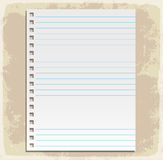 Paper sheets, lined paper and note paper Stock Photography